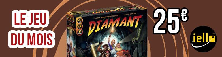 Jeu du mois : Diamant. Jeu de 4 à 8 joueurs, édité par Iello, privilégiant la prise de risque et les bonnes parties de rigolade.